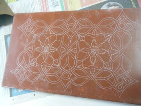 Completed pattern transferred onto panel