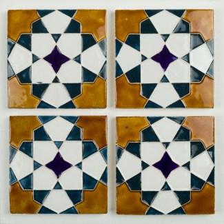 Handmade geometric tiles