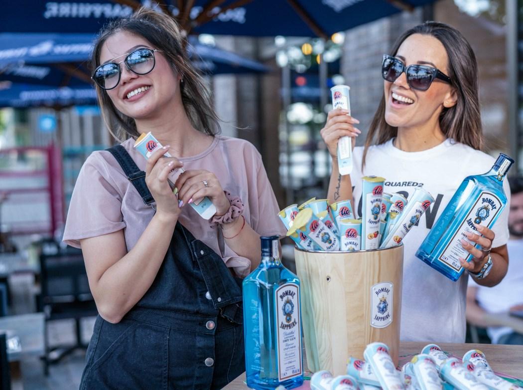 promo girls bombay sapphire ice sorbet