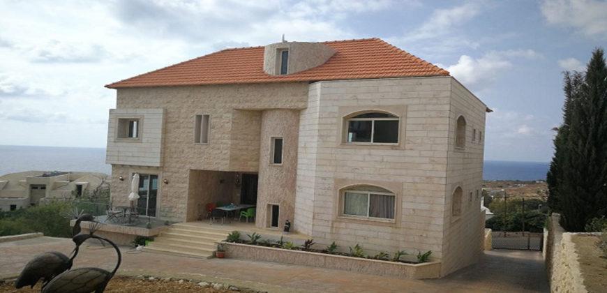 Villa for Sale Berbara Jbeil The construction Area is 694Sqm Land Area 870Sqm