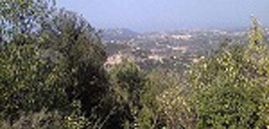 Land for Sale Mechmech Jbeil Area 1613Sqm