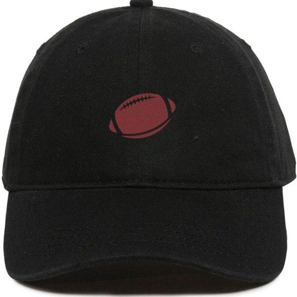 American Football Baseball Cap Embroidered Dad Hat Cotton Adjustable Black