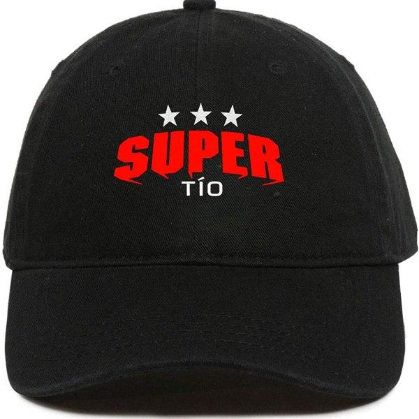 Super TIO Baseball Cap Embroidered Dad Hat Cotton Adjustable Black