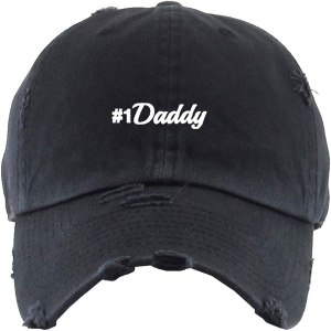#1 Daddy Dad Hat Baseball Cap Embroidered Cotton Adjustable