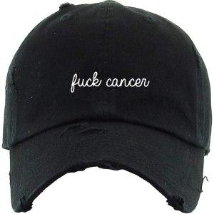 FCK Cancer Awareness Vintage Dad Hat Baseball Cap Embroidered Cotton Adjustable Distressed