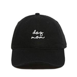 Dog Mom Baseball Cap Embroidered Dad Hat Cotton Adjustable Black