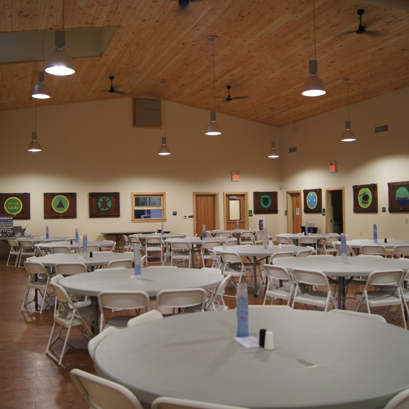 Inside of new dining hall