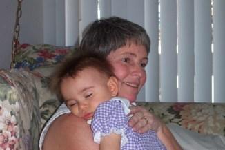 asleep on Grandma