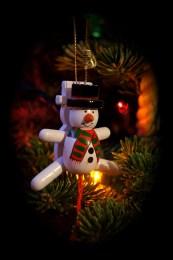 Snowman Ornament Jumping