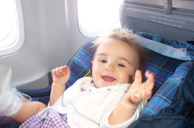 Matilda on plane