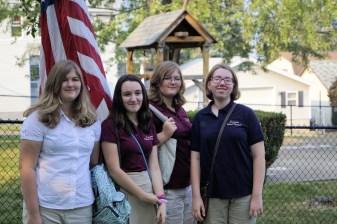 Patriotic 8th graders