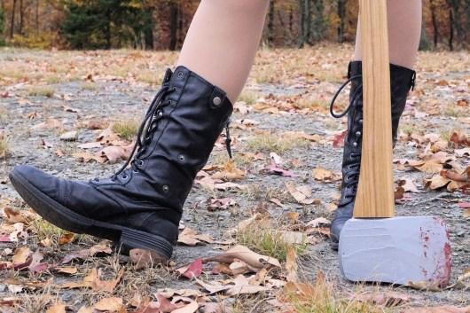 Ax and boots
