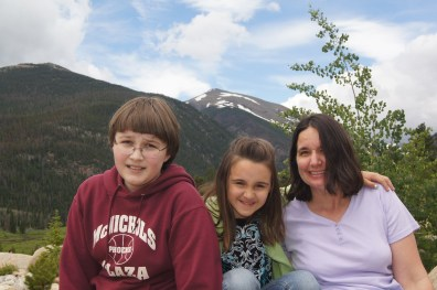 Family in rockies