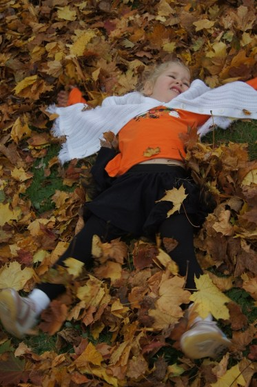 Playing in leaves 5