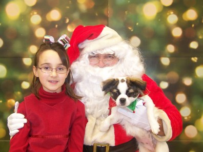 Santa, Francie and the girl