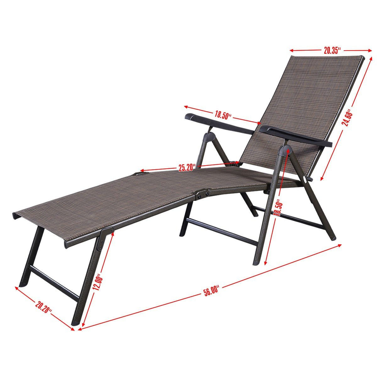 Camping Lounge Chair Outdoor Adjustable Chaise Lounge Chair By Choice Products