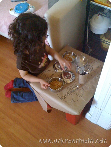 Pretending to cook