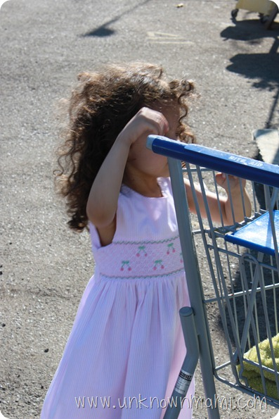 Girl and shopping cart