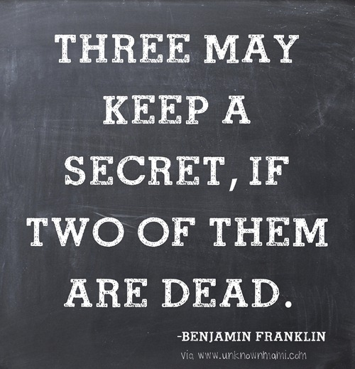 Keeping secrets quote