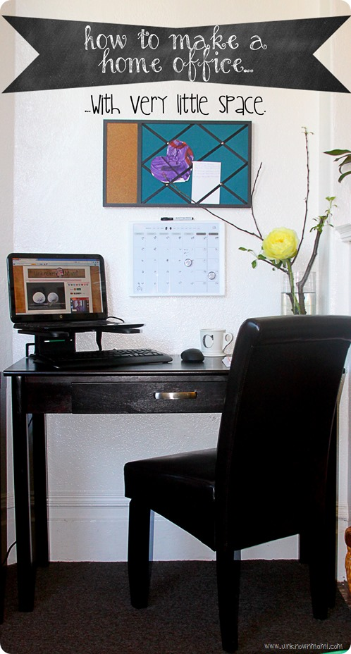 DIY home office with little space