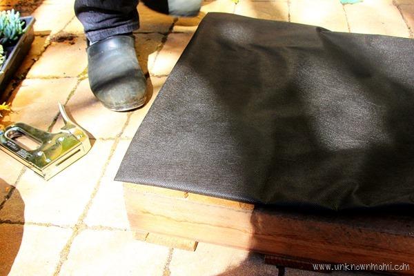 landscaping cloth for pallet garden