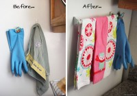 Magnetic Dish Towel Holder Fridge | Best Home Decorating Ideas