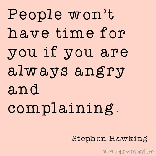 Stephen Hawking quote about anger