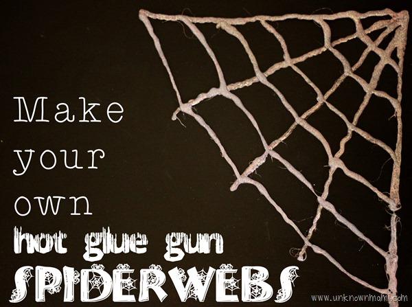 Easy to make hot glue gun spiderwebs