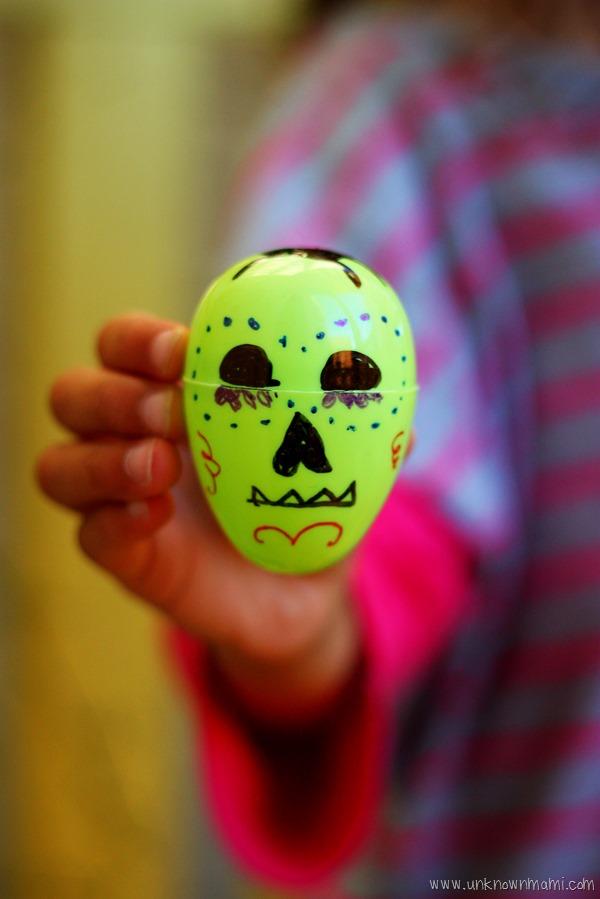 Sugar skull candy holder