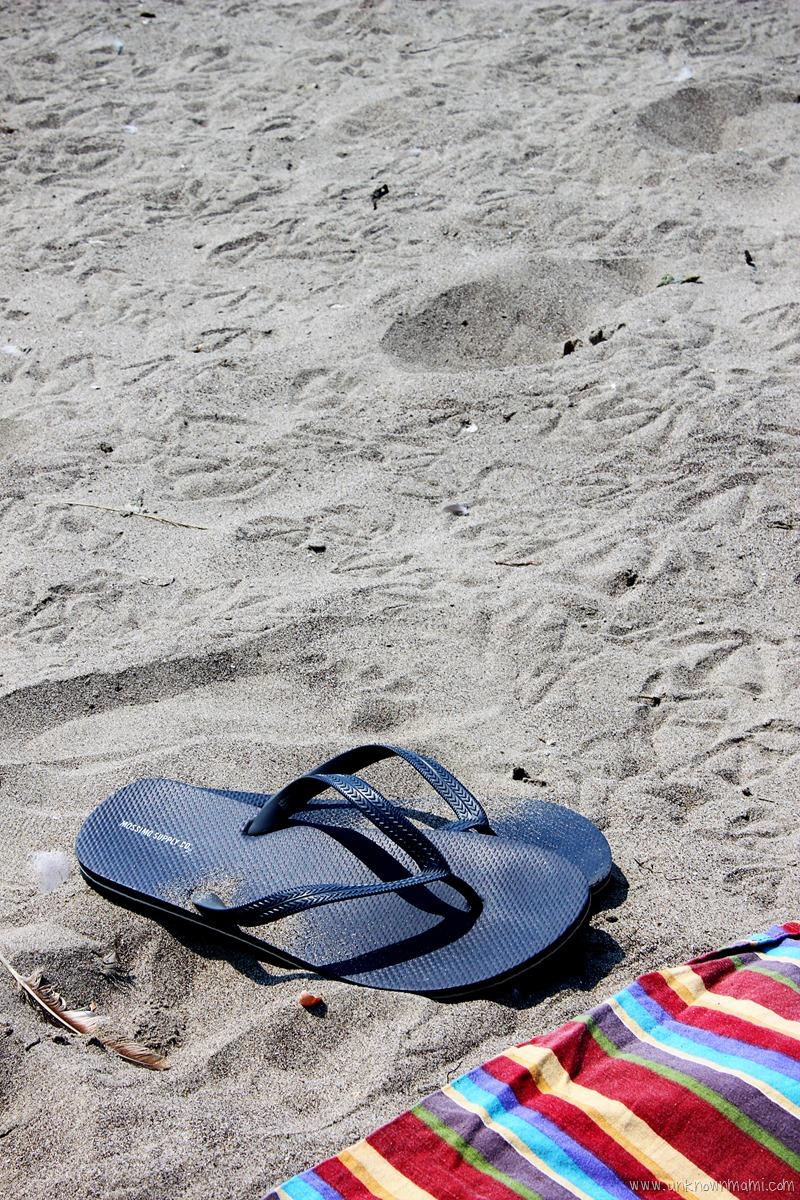 flip flops on Stinson Beach