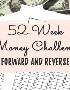 week money challenge forward reverse   also and printable rh byclaudya