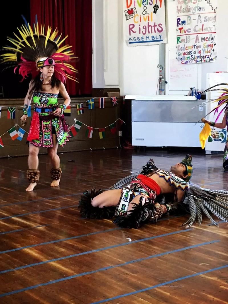 Mixcoatl Anahuac Aztec dancers
