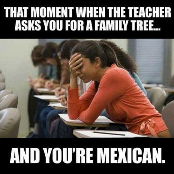 Family tree when you are Mexican