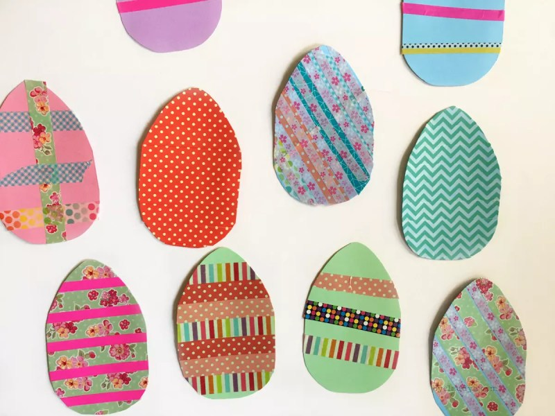 Washi Easter egg craft