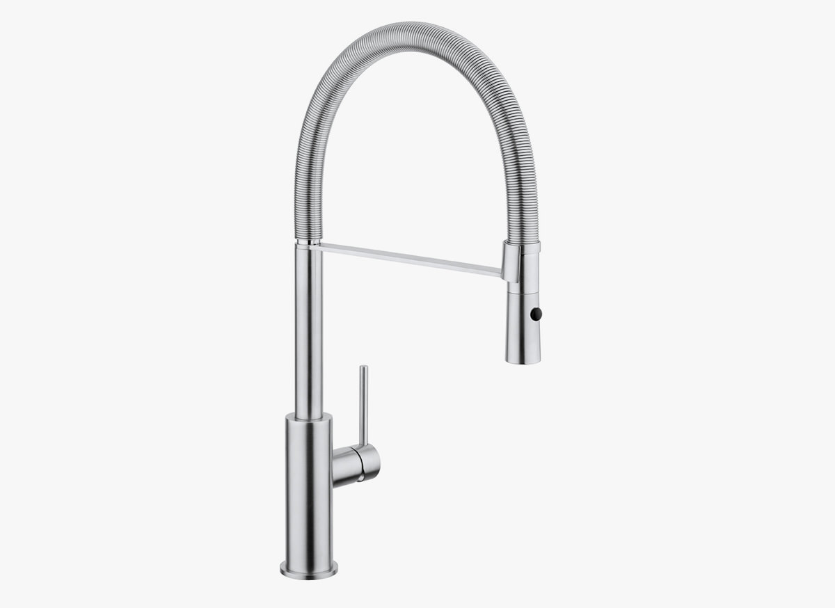 pull out spray kitchen faucet stainless cabinets cocoon mono 14 tap with bycocoon