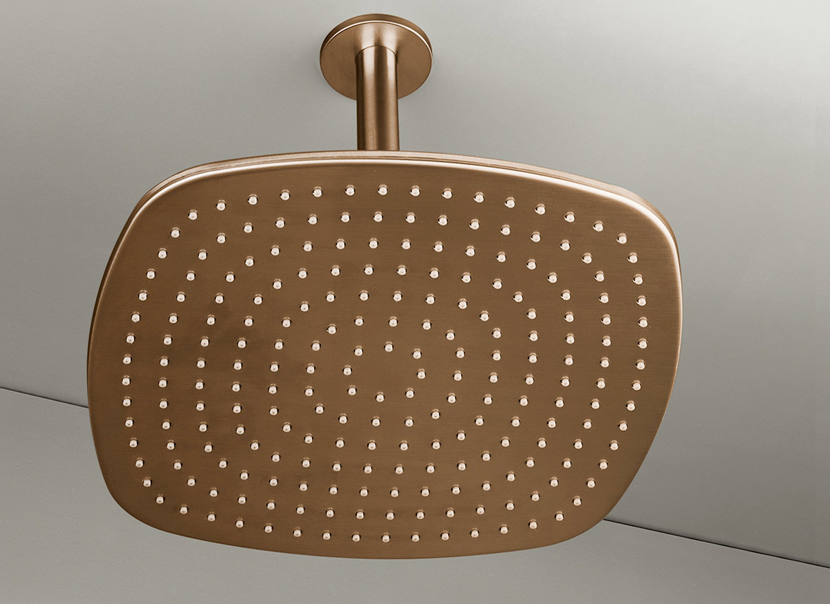 Cocoon Pb31 Ceiling Mounted Rain Shower Copper
