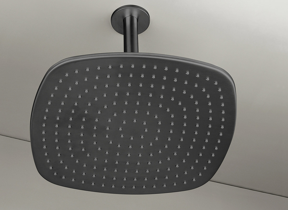 Cocoon Pb31 Ceiling Mounted Rain Shower Black