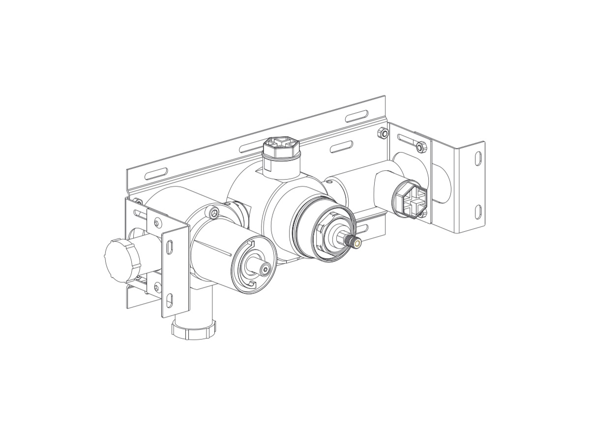 COCOON BOX03 Installation part for thermostatic mixer and