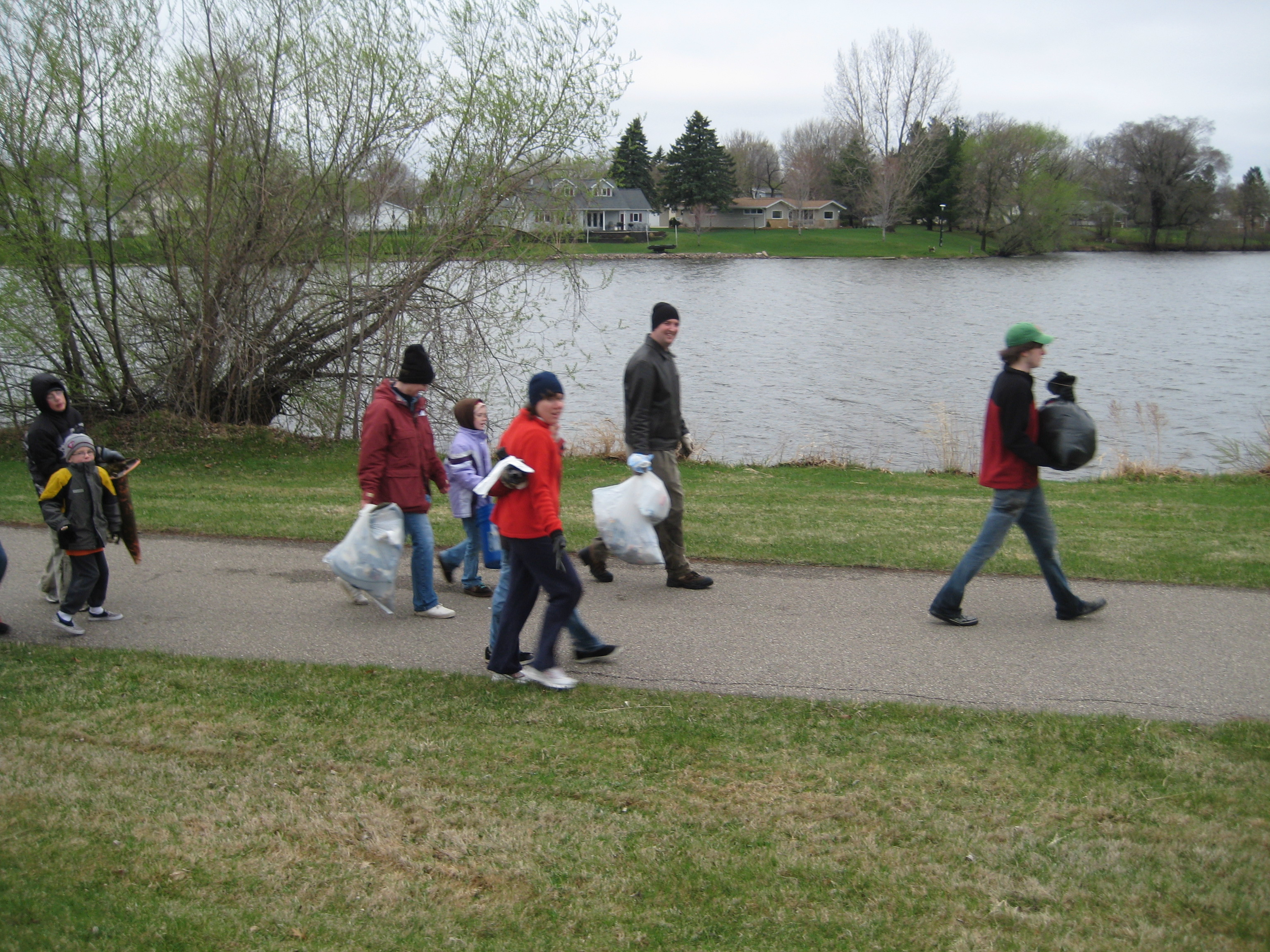 Taking out the trash in Minnesota.