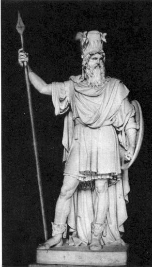 Photo of Odin from 1937 and 1942 church lesson manuals