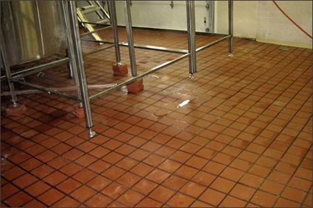 floor brick west bend dairy tile dairy