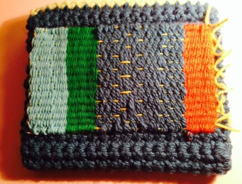 Clutch étnico de lana crochet