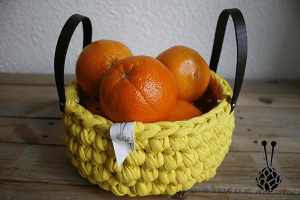 Cesto o frutero de trapillo | By Cousiñas