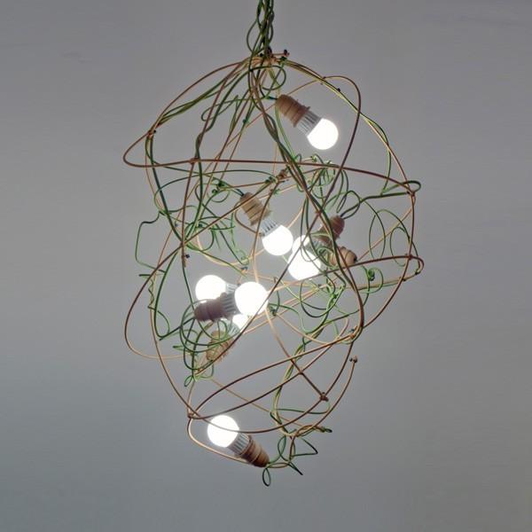 Lámpara Garabato, realizada por Enpieza