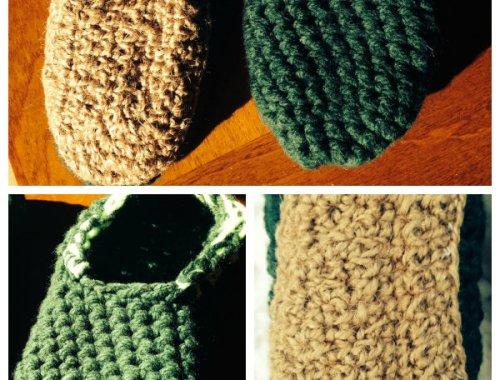 Zapatillas de crochet con suela de esparto | By Cousiñas
