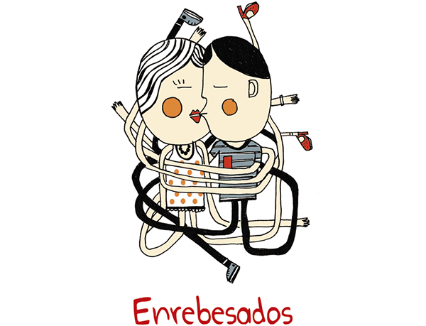 """Enrebesados, ilustración incluida en """"Expediciones Papanáuticas. Ilustraciones Palabristas""""."""