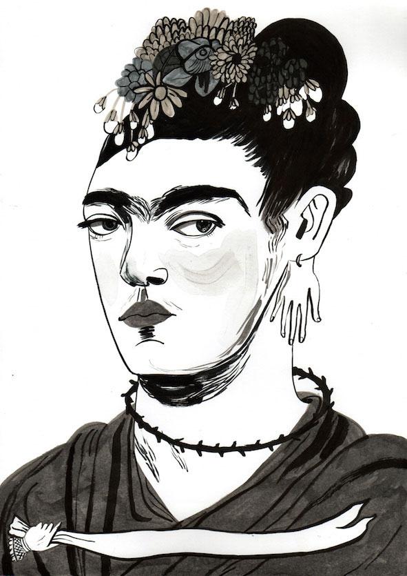 Frida Khalo, ilustrada por María Herreros