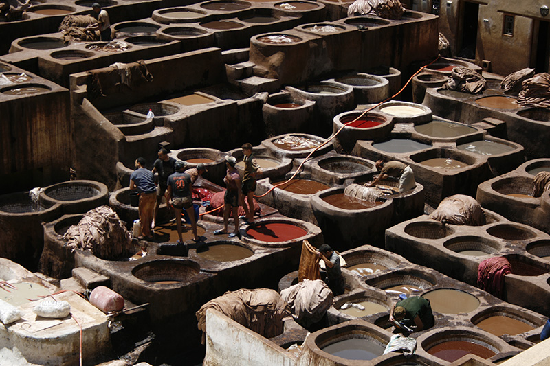 Fez, pieles, Marruecos