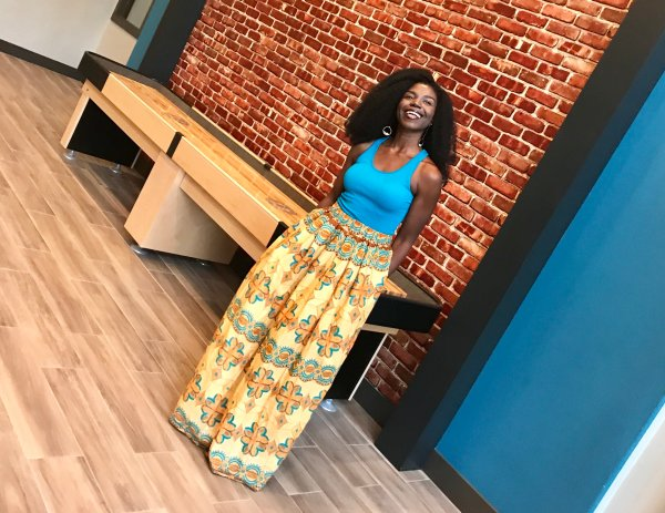 Tribal Marks by 'Dami African Ankara wax print maxi skirt