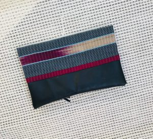 Woven African Aso-oke, Aso-ofi cloth fold over zipper ethnic clutch from Tribal Marks by 'Dami - cool - back